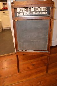 Antique Circa 1915 Sears Child S Easel Desk Chalkboard With Boy Scout Panels