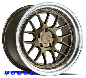 Aodhan Ds06 18 15 Bronze Staggered Wheels 5x114 3 Fit 03 08 Nissan 350z Nismo