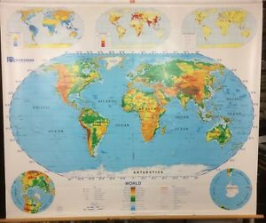 Nystrom World Us Pull Down Classroom Map 1 Map 1sr99 Colorful