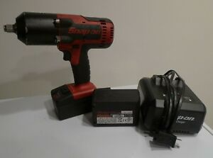 Snap on Ct8850 18v Lithium 1 2 Impact Driver W 2 Batteries And Charger