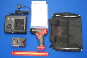 New Snap on 18 V 3 8 Drive Red Monsterlithium Impact Wrench Ct8810b Kit