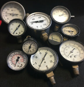 Lot Of 10 Gauges Steam Punk Pieces Untested