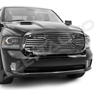 13 18 Dodge Ram 1500 Big Horn Gloss Black Packaged Grille replacement Shell