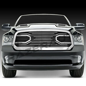 13 18 Dodge Ram 1500 Big Horn Chrome Packaged Grille Chrome Replacement Shell