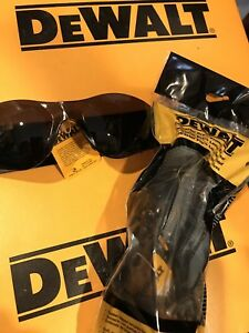 Lot Of 3 Dewalt Contractor Pro Smoke Safety Glasses Dpg52 2d New In Package