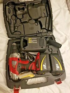Skil Xdrive 18 Volt Drill Case Charger 2 Dead Batteries Drill Charge