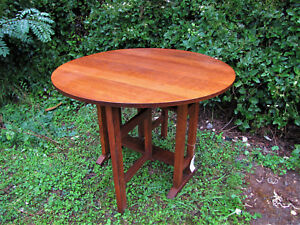 Antique Arts And Crafts L Jg Stickley Large Drop Top Table W5165