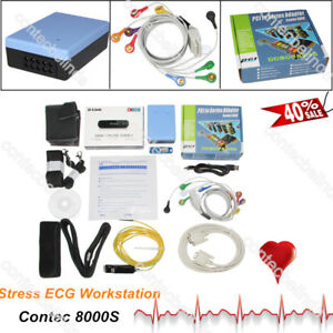 Contec Wireless Stress Ecg Ekg Pc Systems free Analysis Software Contec8000s