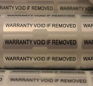 Warranty Void Tamper Proof Evident Labels Security Seal Stickers Self adhesive