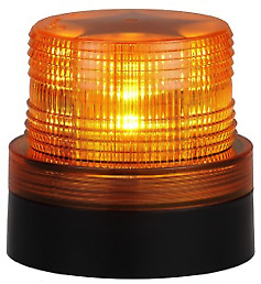 Battery Operated Amber Led Beacon Safety Flashing Light Warning Magnetic Mount