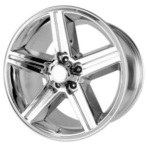 4 new 20 Inch 20x8 Replica 148c Iroc 5x127 5x5 0mm Chrome Wheels Rims
