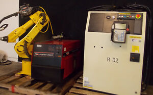 Fanuc Arcmate 100ib Rj3ib Aluminum Welding Industrial Robot With Lincoln 455