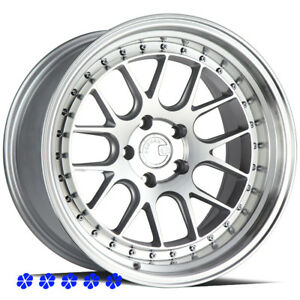 Aodhan Ds06 18 15 Silver Staggered Wheels 5x114 3 Rims Fit 08 Nissan 350z Nismo