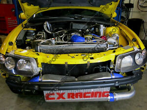 Cxracing Intercooler Kit For 04 06 Pontiac Gto Ls1 Ls2 Twin Turbo Na Tblack
