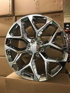 1 New 2015 Gmc Sierra Wheels 22x9 Chrome Oe 22 Silverado Denali Yukon Tahoe