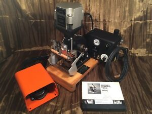 Kingsley Am 101 Stamping Machine W Foot Pedal Vhs Instructions Excellent Cond