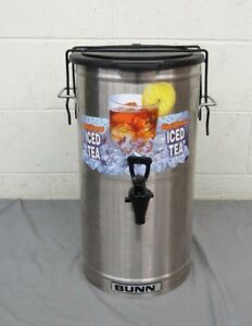 Bunn Tdo 4 Stainless Steel Commercial Ice Tea Dispenser W solid Oval Lid Clip
