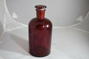 Pyrex Bottle Ruby Red Apothecary 29 With Ruby Stopper