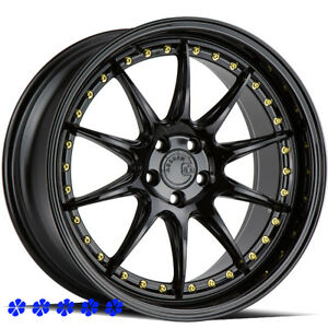 Aodhan Ds07 Wheels 18 X8 5 35 Gloss Black Rims 5x114 3 17 Mitsubishi Lancer Gts
