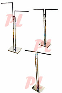 2 Way Chrome Clothing Garment Retail Display Rack Clothes Hanger Fixture Hanger