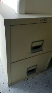 Fireproof File Cabinet Victor 2 Drawer Vertical With Key Works Well