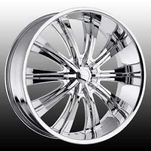 26 Inch 26x9 5 Versante Ve220 Chrome Wheel Rim 5x135 15