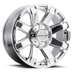 20 Inch 20x9 Raceline 936c Throttle Chrome Wheel Rim 5x150 20
