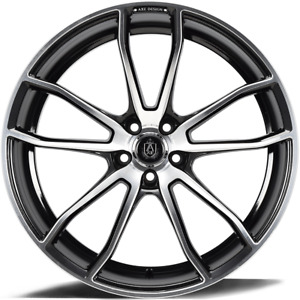 20 Inch 20x10 5 Lenso Cqe Gloss Black Mirror Face Wheel Rim 5x112 43