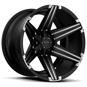 26 Inch 26x12 Tuff T12 Black Milled Wheel Rim 5x4 5 5x114 3 45