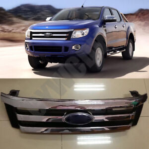 Car Front Grille Overlay Fit Ford Ranger T6 2012 To 14 Chrome Original Type
