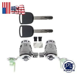 Door Lock Cylinder Front Left Right Keys For 2001 2005 Civic 72145s73003