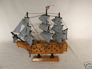 9 X9 Inch Tall Wood Hms Victory Ship Sailboat Model On Stand Display Item