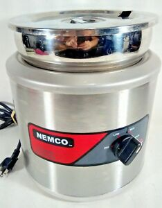 Nemco Cooker Warmer With Stainless Soup Pot Inset And Lid Commercial Model 6102a