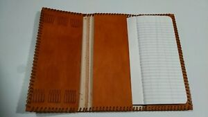 Tri Fold Oil Field Leather Pipe Tally Book Cover 8 75 L X 4 W E