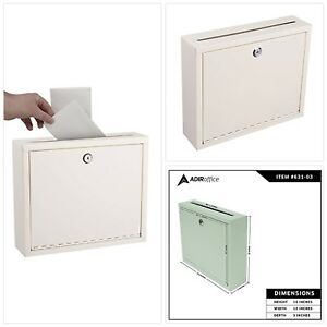 Multi purpose Steel Drop Slot Safe Locking Box For Cash Money Deposit Receipts