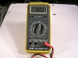 Bk Precision Test Bench 388a Dmm Tested With Leads Nice