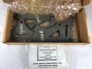 Alan Grove 120r 86 Earlier Steel A C Air Compressor Bracket Ps Lwp Sb Chevy Sbc