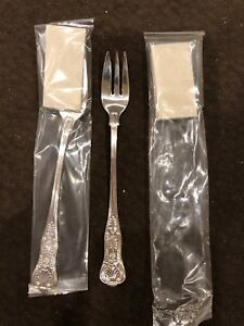 2 International Usn Anchor Silverplate Seafood Forks Navy Officer Mess