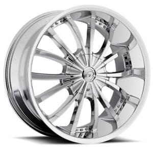 26 Inch 26x10 Vct Mancini Chrome Wheel Rim 6x5 5 6x139 7 30