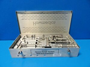 Howmedica 3815 9 600 Grosse kempf Tibial Instrumentation Set W Case 17202