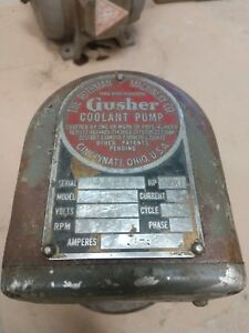 Gusher Coolant Pump 1p3 1 10 Hp 220 440 V 3450 Rpm Used Untested