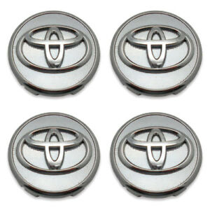 4 Toyota Corolla Chrome Center Caps Cap 2009 2013 Prius 04 15 Yaris 2006 2014