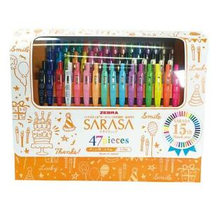 Zebra Sarasa Clip Gel Ball Pen 47 Colors 15th Anniversary Limited Set Jj15 47 Jp
