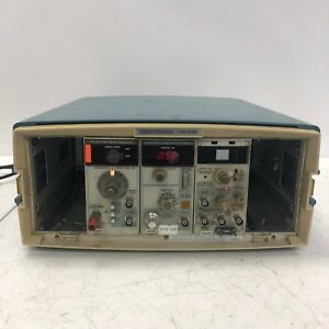 Tektronix Calibration Pg506a Sg503 Sine Wave Tg501a Time Mark In Tm515 Case
