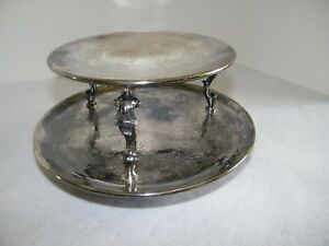 Continental Silver Co Two Tier Revolving Serving Platters Silverplate