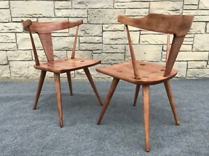 Pair Of Mid Century Modern Paul Mccobb Planner Group Dining Arm Chairs 1530