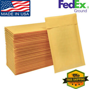 250 0 6x10 Kraft Bubble Mailers Padded Lightweight Envelope 6 x10 Made In Usa