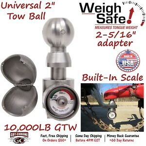 Wsun 1 Weigh Safe Universal 2 2 5 16 Hitch Ball W Built in Scale 10k Gtw