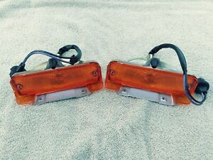 1965 65 Chevy Ii Nova Park Lamp Light Turn Signal Guide Lens Assembly Pair New