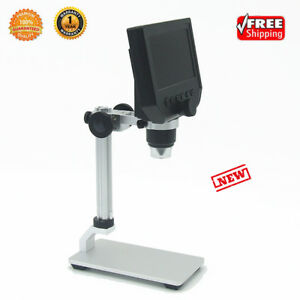 G600 600x 4 3 Screen Hd Lcd Electronic Digital Microscope With Bracket 1080p